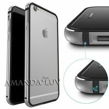 NEW ! Luxury Slim Aluminum Metal Bumper Clear Back Case Cover For iPhone 6 6s 6+