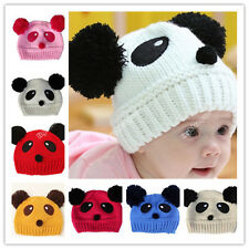 Unisex Winter Warm Baby Toddler Kid Panda Cute Hat Knit Beanie Cap Xmas New 24