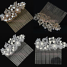 Chic Crystal Rhinestone Wedding Hair Combs Hair Pin Headpiece Bridal Accessory