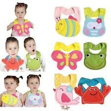 Baby Infant Animal Toddler Saliva Towel Waterproof Lunch Bibs Cartoon Bibs P1W1