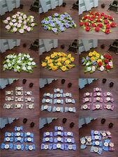 HOT 10/50/100 Pcs Satin Ribbon BOW/Rose Button Appliques/Craft Decoration DIY