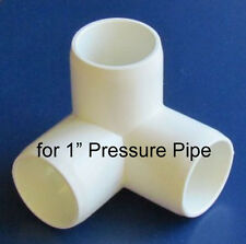 "4pcs 3-Way Corner Connector Joint Pipe Fittings for 1"" PVC U Pressure Pipe"