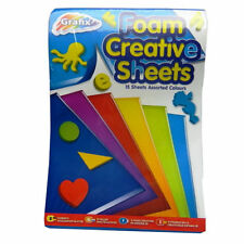 Grafix A5 Foam Creative Coloured Assorted Sheets Pack of 15  Kids Craft Activity