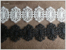 2Y White Black  Venise Lace Trim for Wedding Bridal Accessories Beatiful