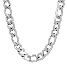 Men's 9 mm Stainless Steel Classic Italian Figaro Link Chain Thick Necklace