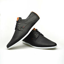 Mens New Casual Black Brown Faux Leather Smart Formal Lace Up Shoes UK SIZE 7-11
