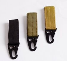 Molle Hooks Camping Survival Gear EDC Tactical Carabiner Military Nylon Webbing