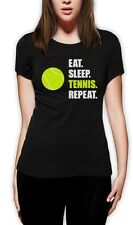 Eat Sleep Tennis Repeat - Tennis Player Gift Sports Women T-Shirt Novelty