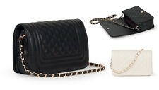 Iconic Quilted Flap Bag Lush Chain Handbag Shoulder Bag Cross-body Purse 61