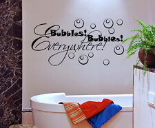 Wall Decal Quote Bubbles Bubbles Everywhere Bathroom Sticker Decor Lettering