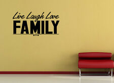 Wall Decal Quote Live Laugh Love Family Inspirational Sticker Decor Family Art
