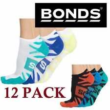 Mens Bonds 12 PACK Pairs  Active Boost Sports Gym Low Cut Ankle Socks 6-10 11-14