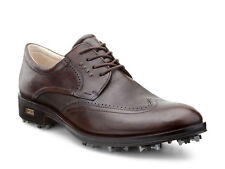 ECCO Mens World Class Mink/Cocoa Brown Waterproof Leather Golf Shoes
