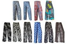 2 NEW WOMEN LADIES FLORAL PRINT PALAZZO TROUSERS SUMMER WIDE LEG PANTS SIZE 8-14