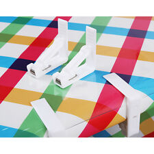 New Plastic Table Cover Cloth Desk Skirt Clip Wedding Party Picnic Clamp Holder
