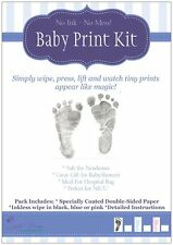 Baby Inkless Print Twin Kit ~ Capture tiny hand and footprints Black and Colour