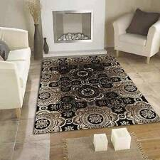 Mystique Black FIVE SIZES New Contemporary Modern Design Floor Rug FREE DELIVERY