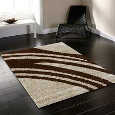 Notes m Lgt Beige FOUR SIZES New Modern Thick Heavy Shaggy Floor Rug FREE DELIV