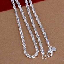 Rope Style 925 Sterling Silver Necklace Chain Sterling Silver Twist Chain