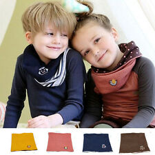 Kid Baby Boy Girl Winter Warmer Neck Gaiter Soft Wraps Beanie Scarf Neckerchief