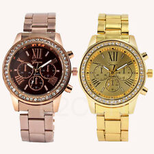 Womens Geneva WATCH Analog Quartz Rhinestone Crystal Stainless Steel Wrist Watch