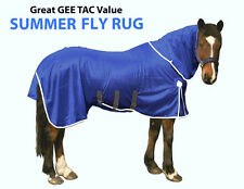 GEE TAC NEW HORSE FLY RUG NO JOIN COMBO UV.SWEETITCH RATED BREATHABLE MASK
