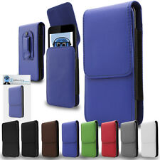 Premium Leather Vertical Pouch Holster Case Clip For Motorola XT894 Droid 4