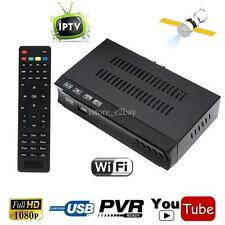 Mini FTA Satellite DVB-S2 + Iptv Combo 1080P Receiver TV Box PVR Record Youtube