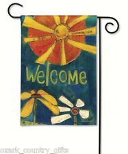 """BreezeArt Garden Mini SUNNY WELCOME FLOWERS Bright Colorful FLAG 12.5"""" x 18"""" NEW"""