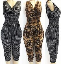 NEW Sexy Women's Animal Leopard Cheetah Print Jumpsuit Playsuit Romper Catsuit