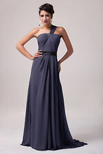 Long Dress Ball Gown Wedding Prom Bridesmaids Cocktail Evening Party Dark Grey