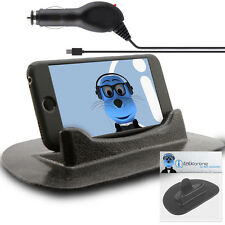 Anti-Slip In Car Holder And Micro USB Charger For Blackberry 9300 Curve 3G