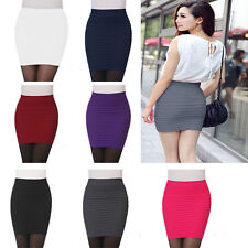 Wome Seamless Stretch Tight Sexy Bodycon Mini Skirt Short Pencil Dress HOT