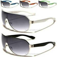 NEW SUNGLASSES BLACK WHITE DESIGNER MENS LADIES WOMENS BOYS WRAP LARGE BIG UV400