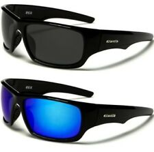 NEW BLACK SUNGLASSES POLARIZED MIRRORED MENS LADIES SPORTS LARGE WRAP DESIGNER