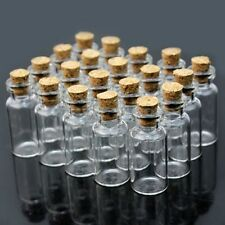 Clear Glass Bottle 2ML With Cork Stopper Mini Vials Jars Decor Party Wedding Lot