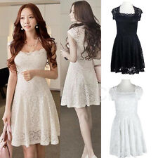 Fashion Women's Dress Lace Sleeveless Cocktail Evening Party Summer Mini Dresses