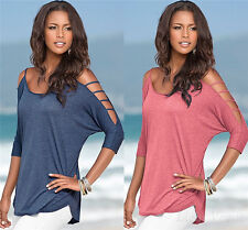Women's Cotton Loose Short Sleeve Casual Shirt Tops T-Shirt Blouse New Fashion g