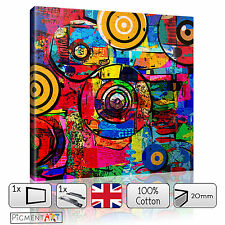 ABSTRACT COLOURFUL MODERN CANVAS WALL ART FRAMED PRINTS PICTURES HOME DECOR