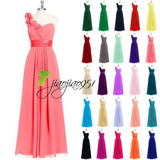 Stock Cheap Formal Long Bridesmaid Dresses Evening Cocktail Prom Party Gown 6-18