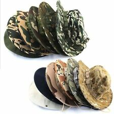 Bucket Hat Boonie Hunting Outdoor Wide Brim Camo Sun Men Cap Military Fishing
