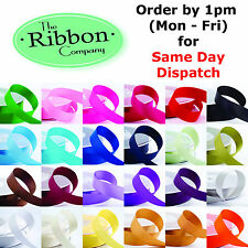 DOUBLE SIDED SATIN RIBBON 6mm, 10mm, 15mm, 25mm, 38mm various colours