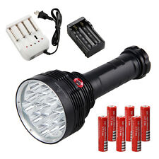30000LM 16*CREE XM-T6 LED Rechargeable Flashlight Torch Hunting Lamp 6x18650+CH