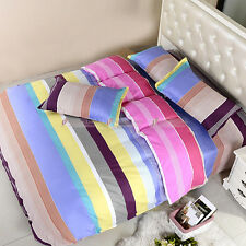 NEW Colourful Rainbow Quilt/Doona/Duvet Cover Set Single/Double/Queen Size A883