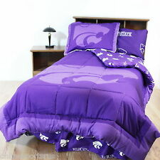 Kansas State Wildcats Comforter Sham & Valance Twin Full Queen King Size CC