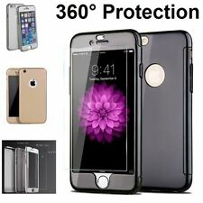 Hybrid 360° Hard Ultra thin Case+Tempered Glass Cover For Apple iPhone 6 6s Plus