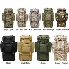 65L Outdoors Backpack Travel Camping Hiking Bag Mountain Rain Cover Metal Frame