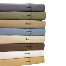 Unattached Wrinkle Free 650TC Combed Cotton WATERBED Sheet Set CAL QUEEN KING