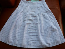 BLUE ILLUSION STUNNING WHITE PLEATED SKIRT 100% Cotton RRP:$149.95 choose size
