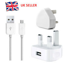 UK Wall Mains Charger + Micro USB Cable FOR SAMSUNG GALAXY NOKIA LG HTC TABLET